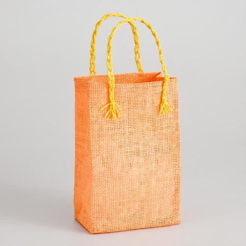 Orange Woven Gift Bag
