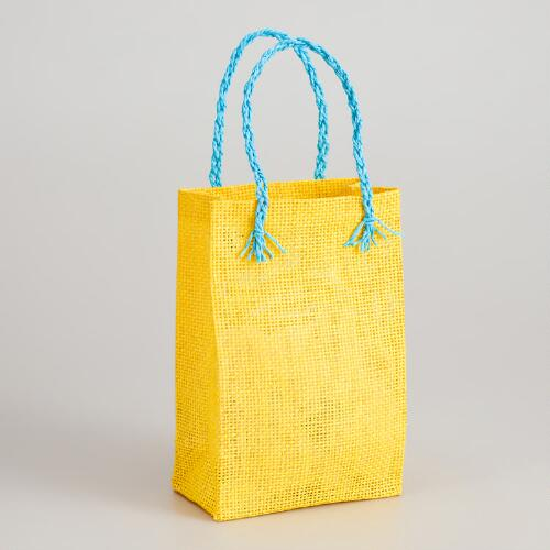 Yellow Woven Gift Bag