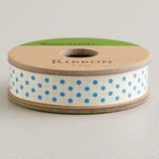 Blue Dot Grosgrain Ribbon