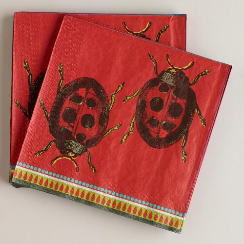 Beetle Lunch Napkins, 16-Count