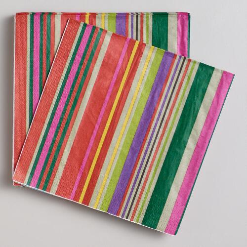 Cabo Stripe Lunch Napkins, 16-Count