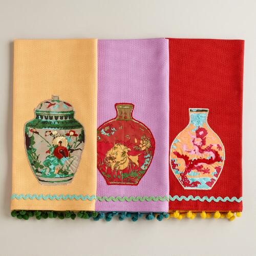 Ginger Jar Tea Towels, Set of 3
