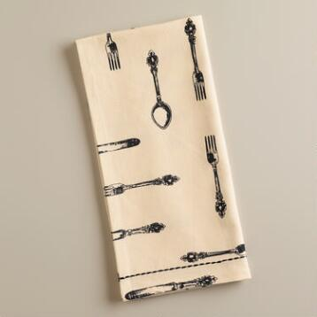 Vintage Silverware Kitchen Towel