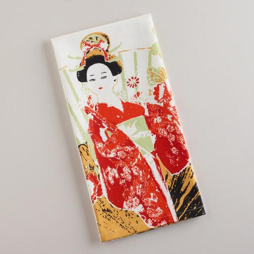 Geisha Tea Towel