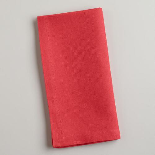 Cranberry Buffet Napkins, Set of 6