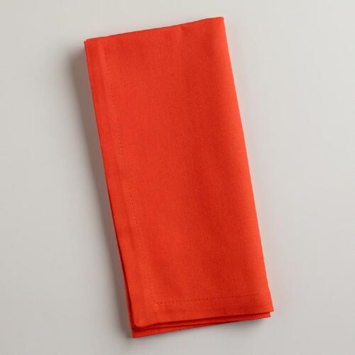 Spicy Orange Buffet Napkins, Set of 6