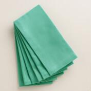 Dusty Aqua Buffet Napkins, Set of 6
