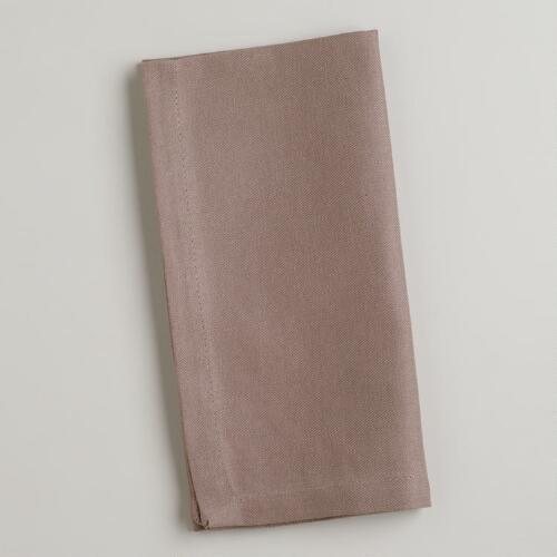 Soft Gray Buffet Napkins, Set of 6
