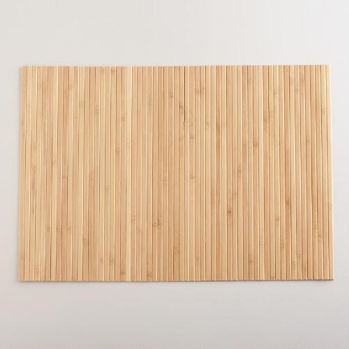 Blonde Bamboo Placemats, Set of 4