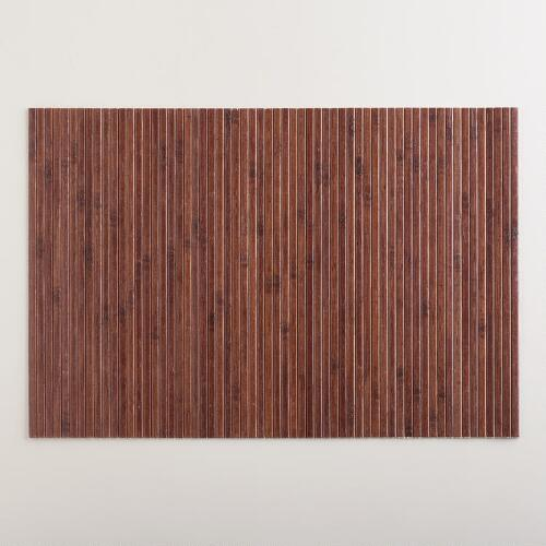 Dark Wood Bamboo Placemat, Set of 4