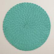 Beryl Green Round Braided Placemats, Set of 4