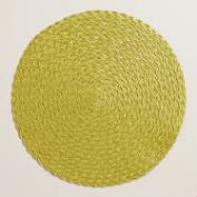 Oasis Green Round Polybraid Placemats, Set of 4