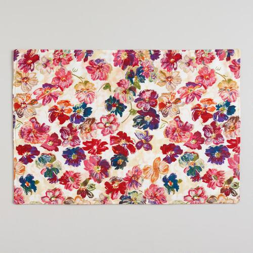 Vintage Floral Placemats, Set of 4