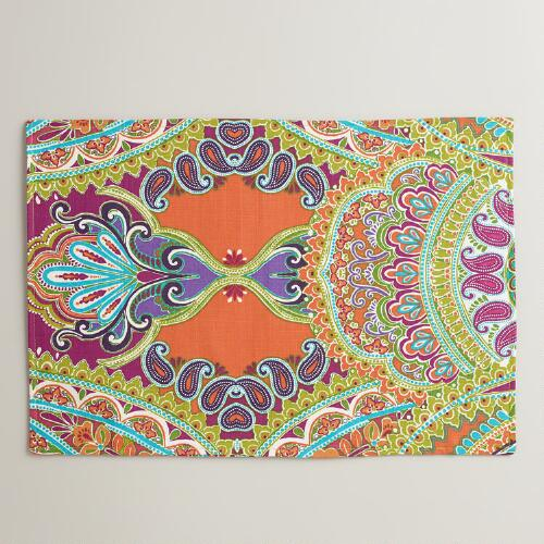 Venice Paisley Placemats, Set of 4