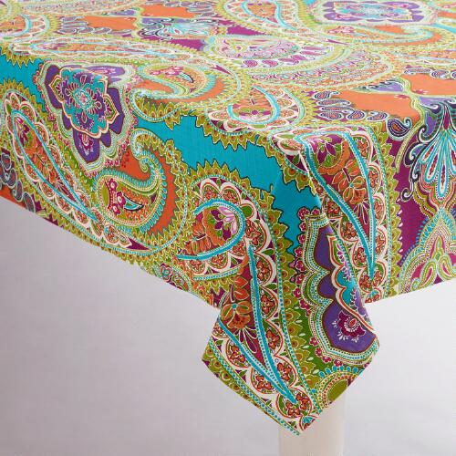 Venice Striped Paisley Tablecloth