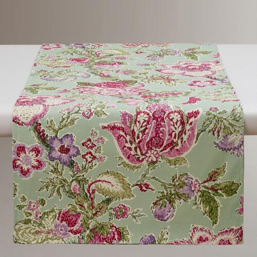 Manor Floral Table Runner