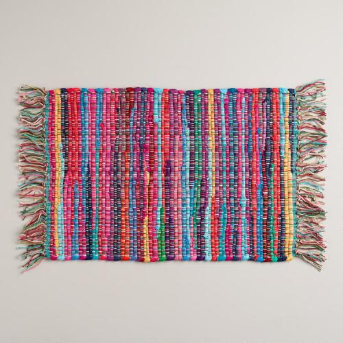 Multicolored Chindi Placemats, Set of 4