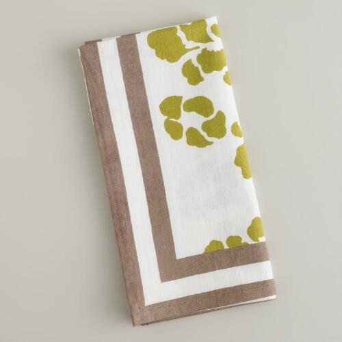 Green Lotus Napkins, Set of 4