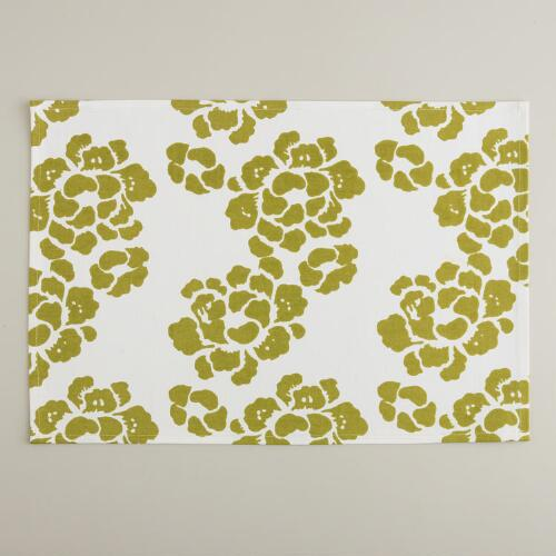 Green Lotus Placemats, Set of 4