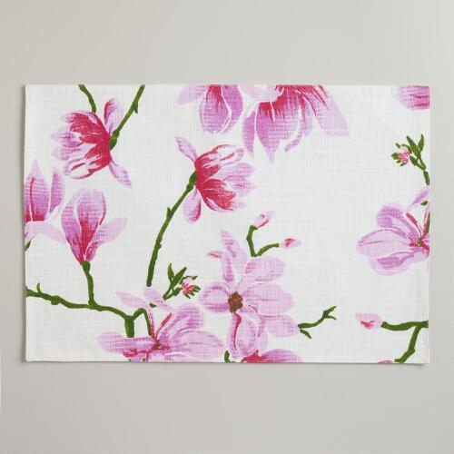 Magnolia Floral Placemats, Set of 4