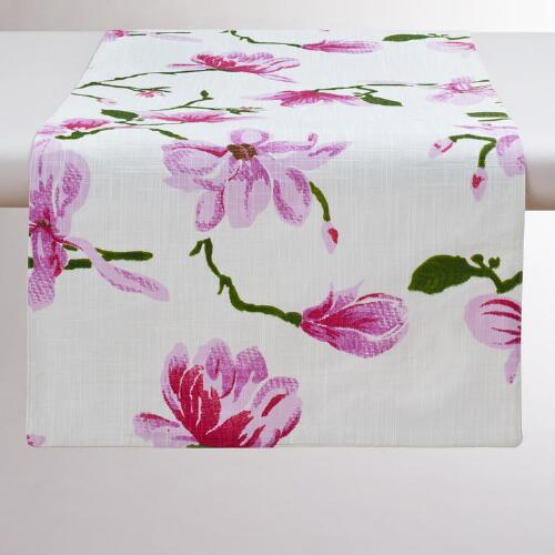Magnolia Floral Table Runner