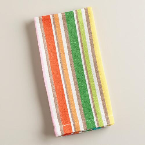 Multicolored Jacob Bright Striped Napkins, Set of 4