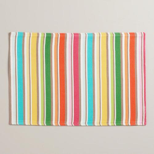 Multicolored Jacob Bright Striped Placemats, Set of 4