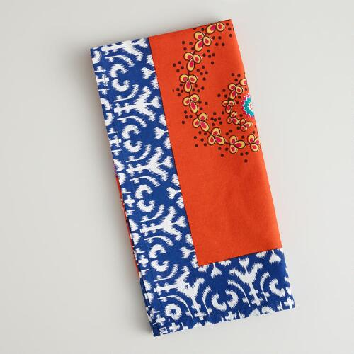 Rosalia Ikat Border Napkins, Set of 4