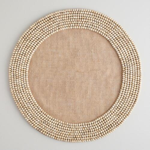 Beaded Jute Placemats, Set of 4