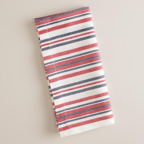 Americana Stripe Napkins, Set of 4
