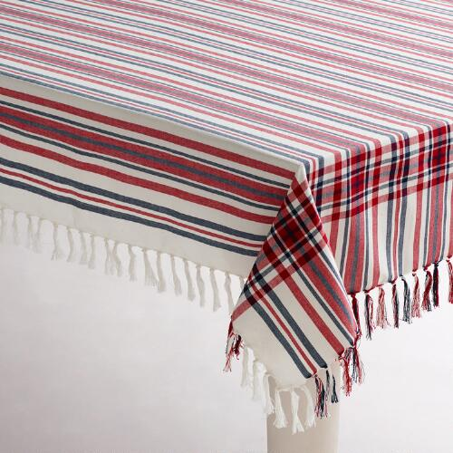 Americana Stripe Tablecloth