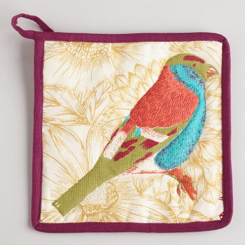 Blue Bird Potholder
