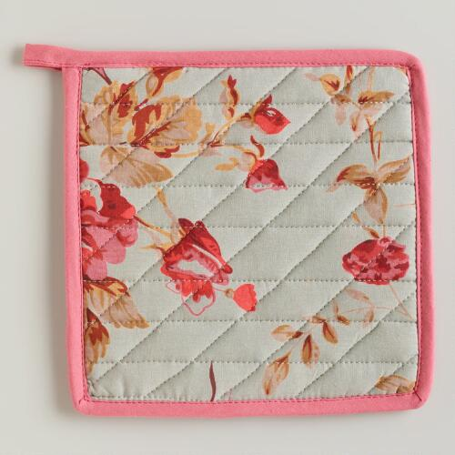 Elsa Grey Chintz Potholder