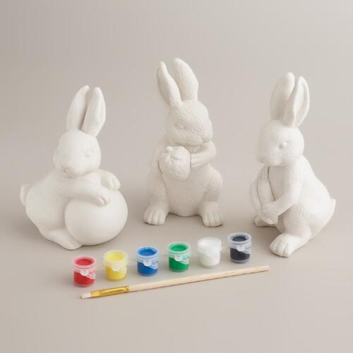 Paint Your Own Bunnies Kit, Set of 3