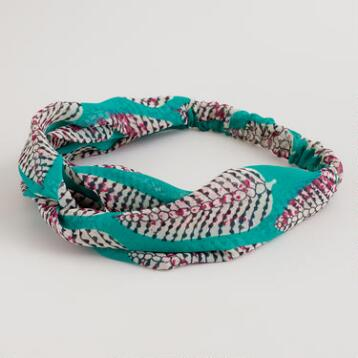 Green Leaf Twisted Knot Headband