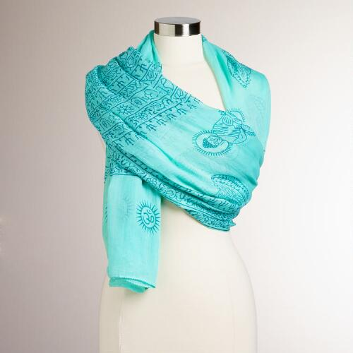 Light Turquoise and Teal Prayer Shawl
