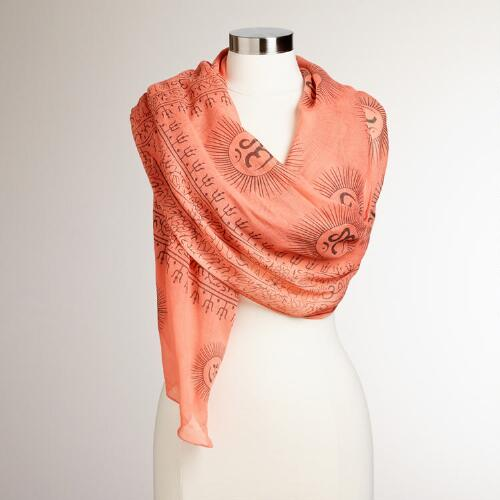 Salmon and Olive Prayer Shawl