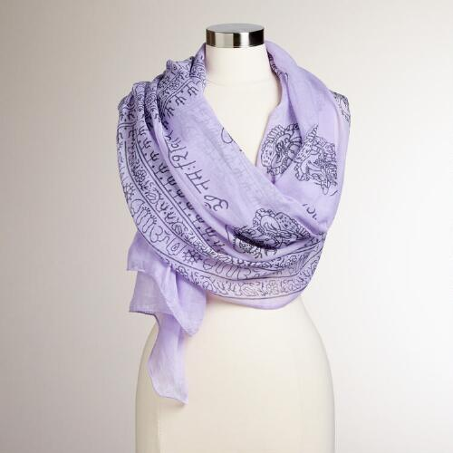 Lavender and Navy Prayer Shawl