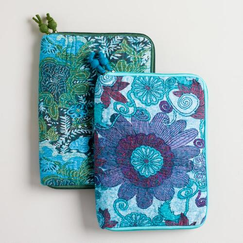 Cool Floral Felt iPad Sleeve
