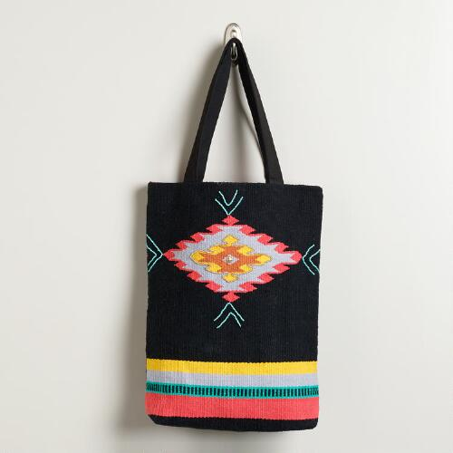 Black Southwestern Carpet Tote