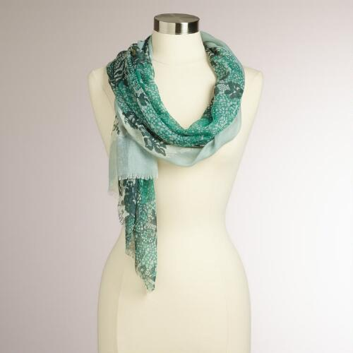 Mint Green Lace Scarf