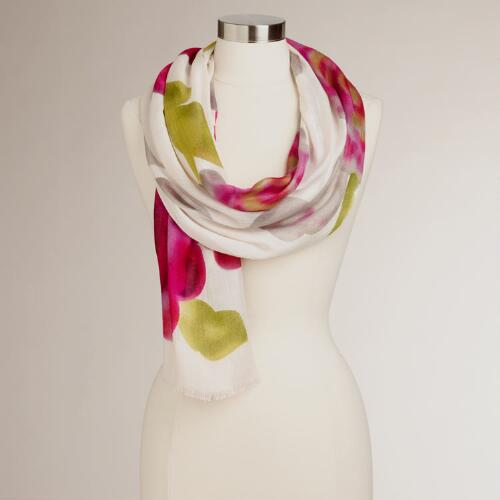 Rose and Fuchsia Oversized Scarf