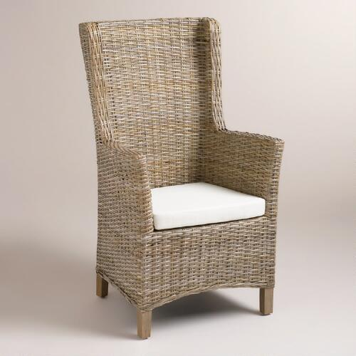 Amelia Woven Wingback Armchairs, Set of 2