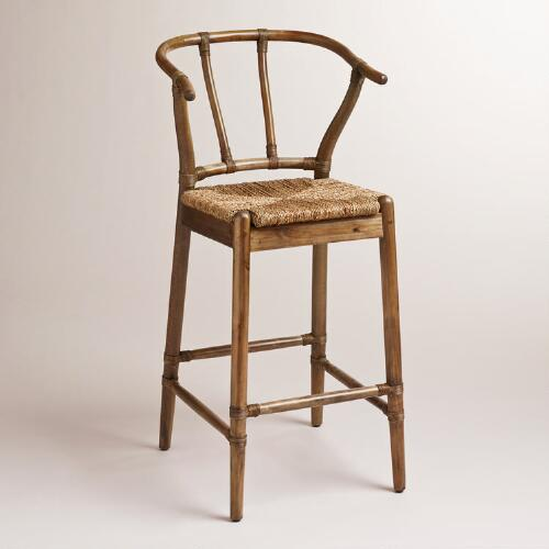 Natural Bowen Wishbone Barstool