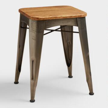 Brayden Metal and Wood Stool