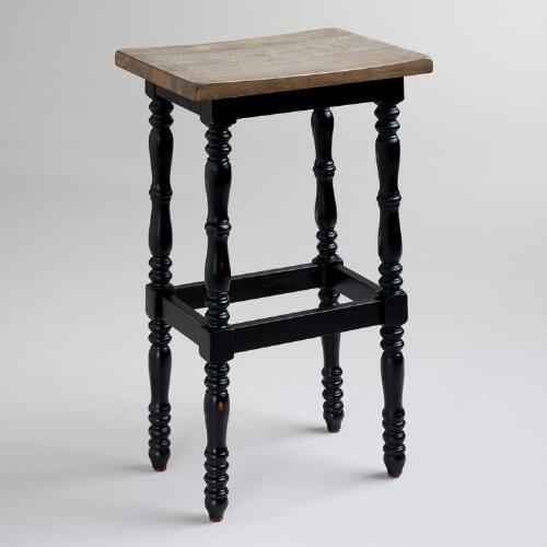 Black Penelope Spindle Stool