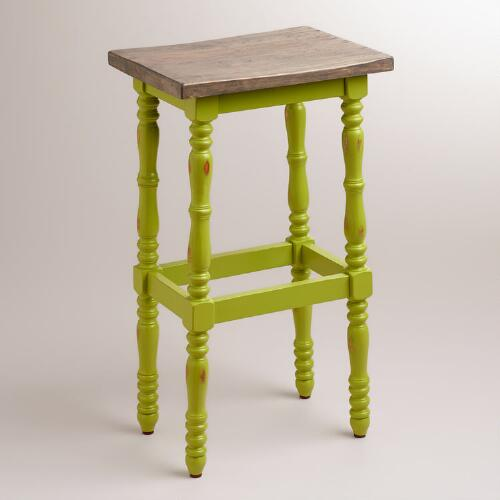 Lime Penelope Spindle Stool