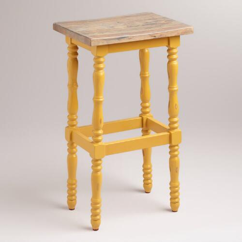 Yellow Penelope Spindle Stool