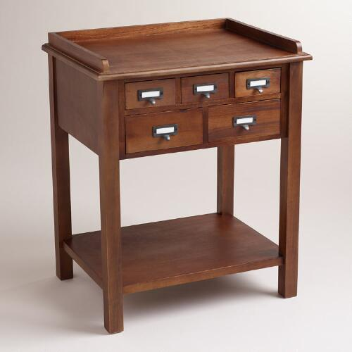 Natural 5-Drawer Preston Table
