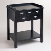 Black 5-Drawer Preston Table